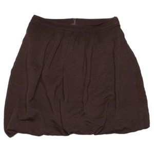 JOSEPH RIBKOFF Bubble Skirt Pleated Mini Brown